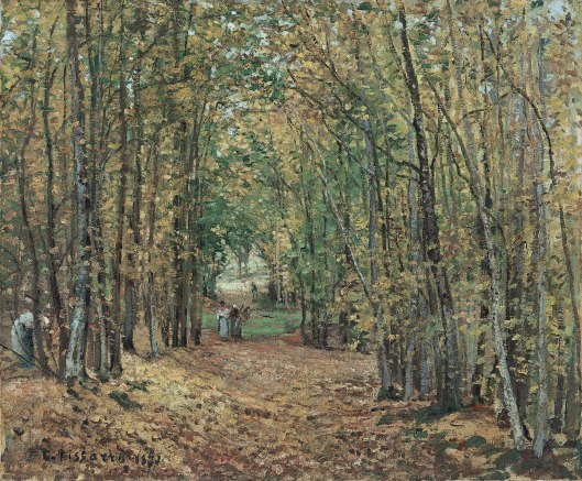 El bosque de Marly. C. Pissarro, 1871. Madrid, Museo Thyssen-Bornemisza.